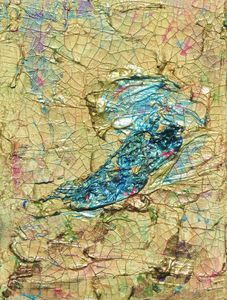 Abstract Blue Bird