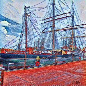 Colorful Old ship
