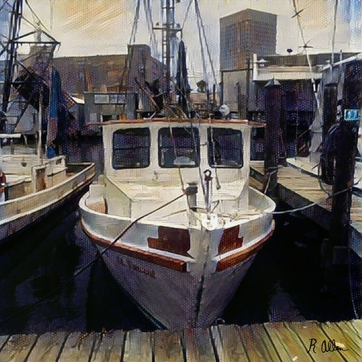 Rustic red boat - Creative Artistic Collaborations