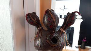 3 Headed Snake Birdhouse - Designer Gourds and sculptures