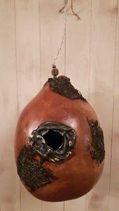 Gourd Birdhouse - Designer Gourds and sculptures