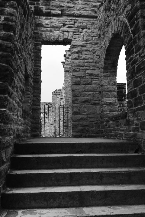 Castle Steps, Black and White - What I Saw From The Camera Lense