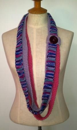 Lavender, Pink Infinity Scarf - Ona By Design
