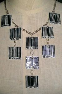 Bar Code Tile Necklace