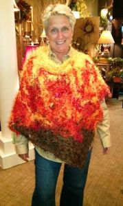 Yellow, Orange and Brown Poncho