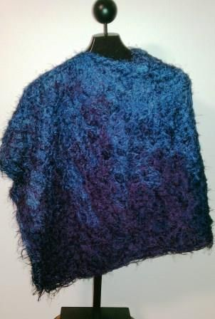 Lavender into navy poncho - Ona By Design