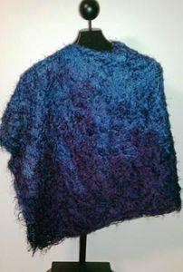 Lavender into navy poncho