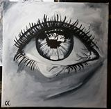 Original Crying Eye Painting