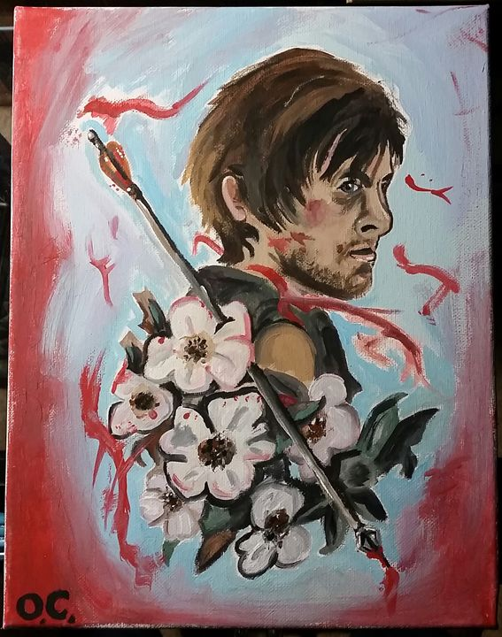 Daryl Dixon Painting - Olivia Cornett