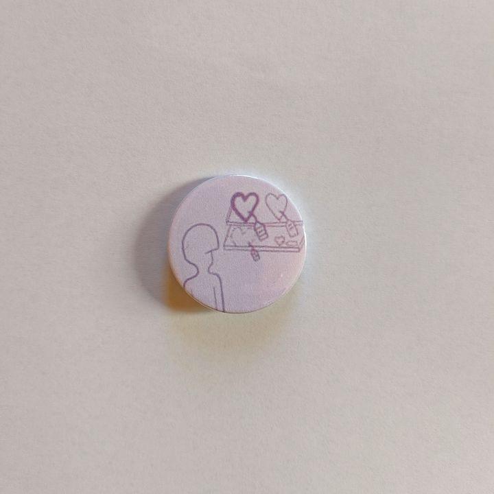 'Love Has No Price Tag' BADge - Caitlin Fauve