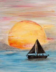 Sailing Red Sun