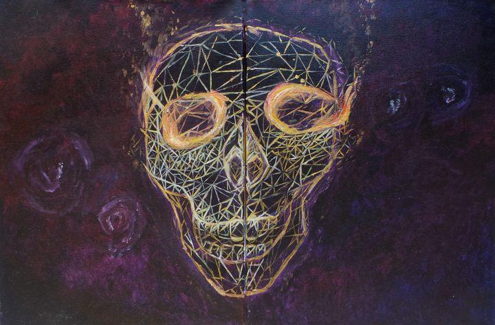 Flaming Skull - Frozen Elric