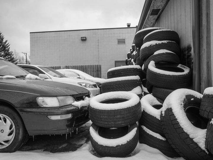 Wall of Tires - Ryans Photography