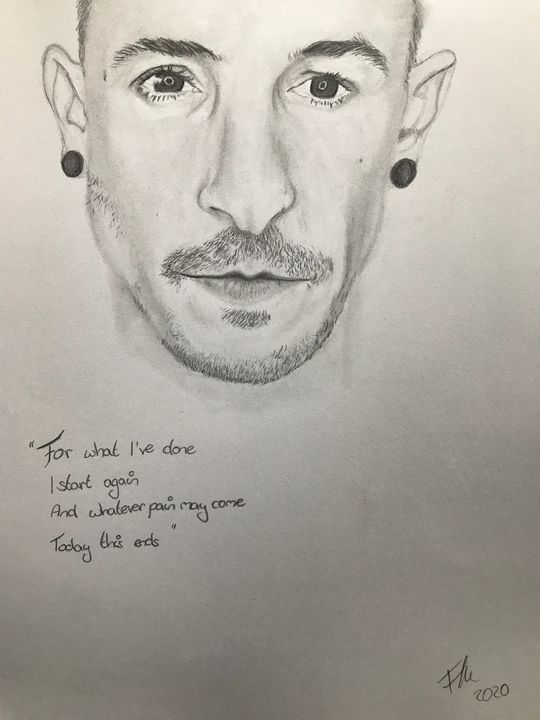 Chester Bennington Portraiture - L00kinD0wn
