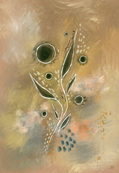 Earthy Abstract Botanical Print - Shreyasi Das