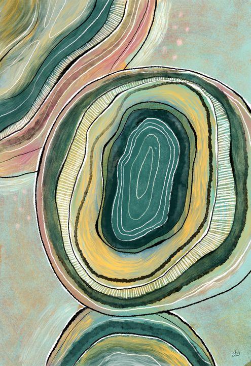 Abstract Teal Cellular Biology - Shreyasi Das