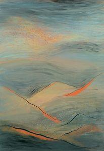 Teal Sunset Atop Mountains