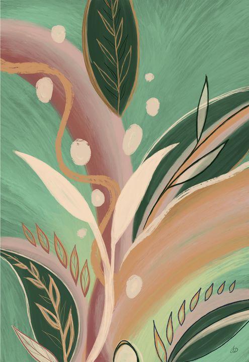 Mint Abstract Botanicals - Shreyasi Das
