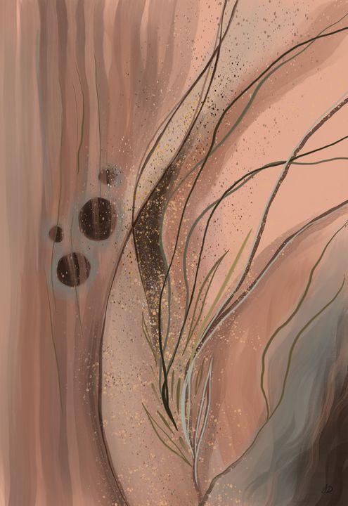 Peach Desert Mountain Tendrils - Shreyasi Das