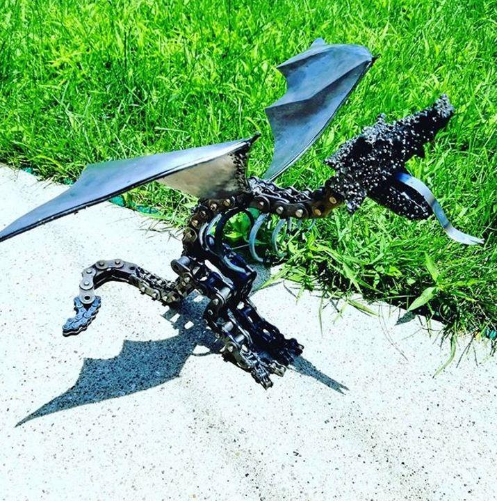 Scrap metal dragon - WOODnMETAL Crafts