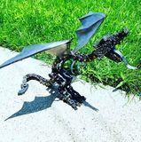 Scrap metal dragon