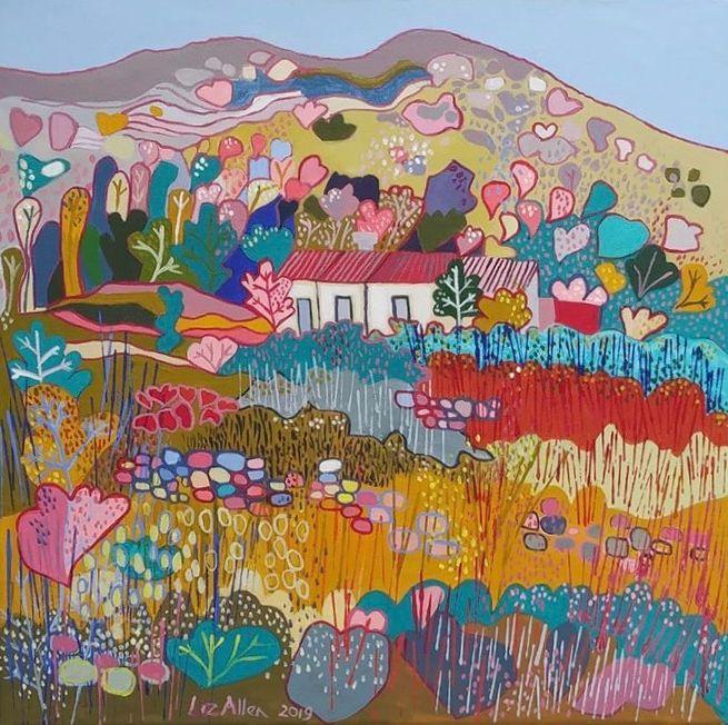 The Old Farm, Monchique - Paintings by Liz Allen
