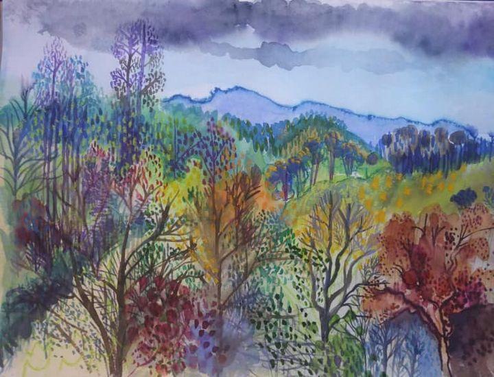 Monchique landscape, Portugal - Paintings by Liz Allen