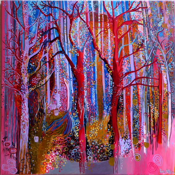 Path through the woods - Paintings by Liz Allen