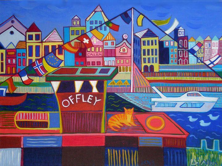 The Offley boat, Porto - Paintings by Liz Allen