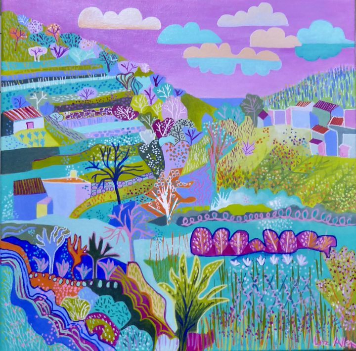 Monchique countryside - Paintings by Liz Allen