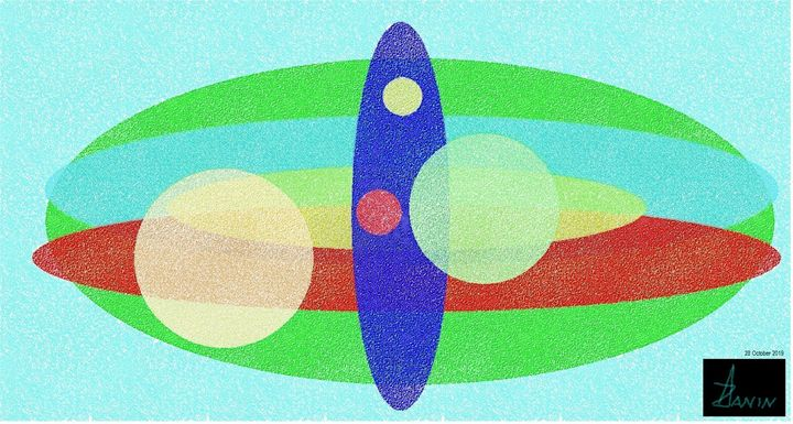 The nine circles of Paradise - Zanin Art