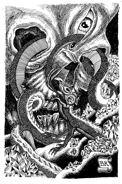 Skull Ouroboros - Bretton Kreye
