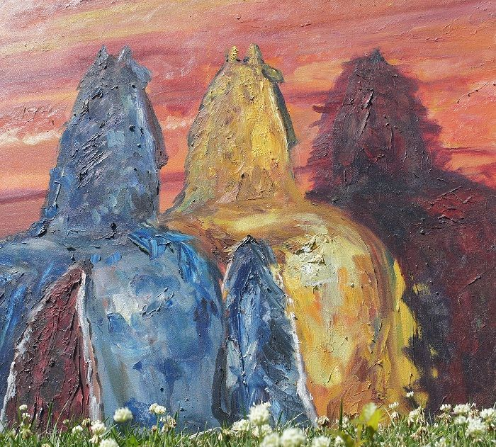 Three Horses - Original Large Format Paintings