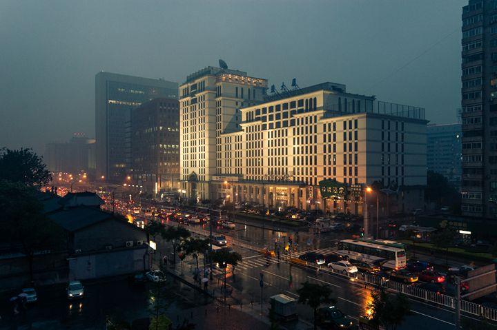 Beijing China Street at Dusk. - Christophe A Braibant