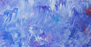 Blue acrylic dip