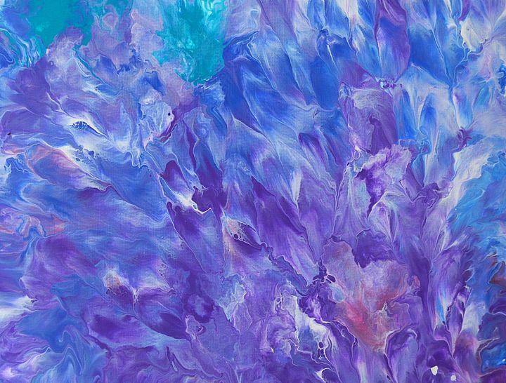 Blue and purple flowers - Melanie Vaught