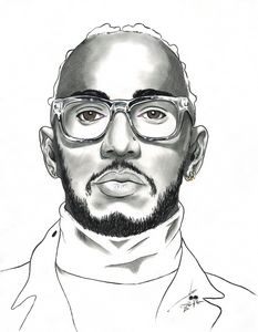 Lewis Hamilton - Art By Creekmore