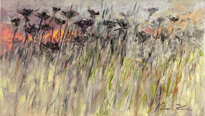 Sunset in fields - Margaret Raven Gallery