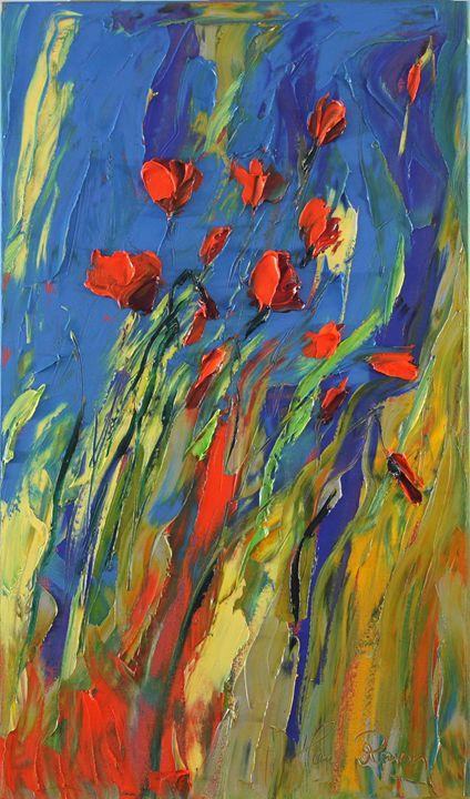 Modern poppy - Margaret Raven Gallery