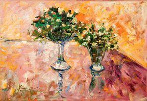 Anemones in vases - Margaret Raven Gallery