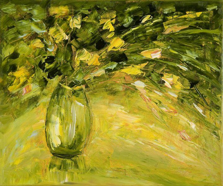 Green Still Life - Margaret Raven Gallery