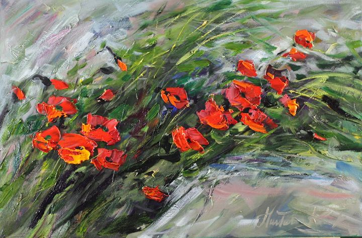 Bunch of poppies - Margaret Raven Gallery