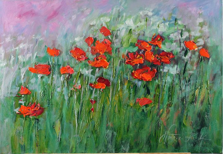 Sunrise with poppies - Margaret Raven Gallery