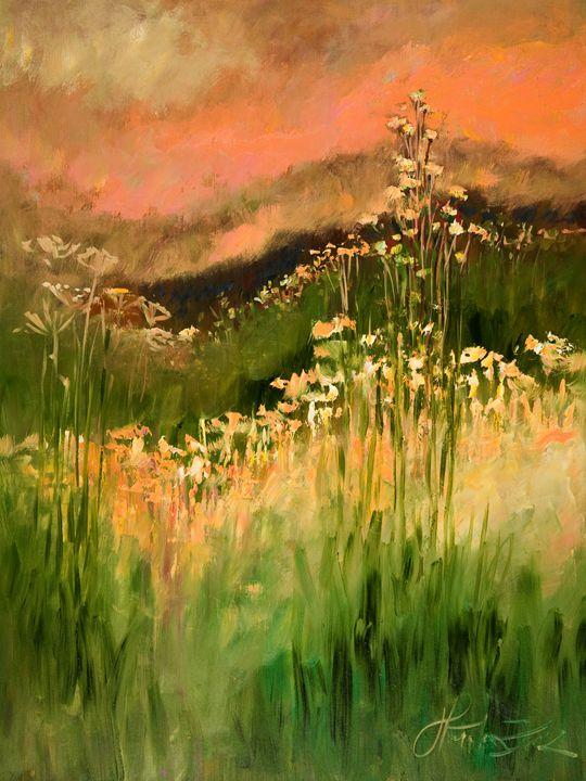 Meadow Landscape II - Margaret Raven Gallery