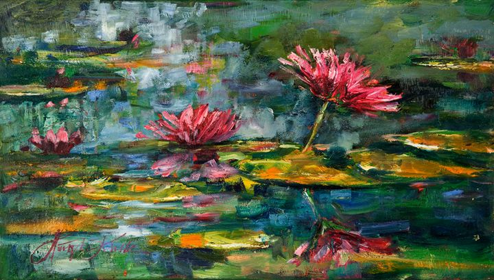 Pink Water Lilies - Margaret Raven Gallery