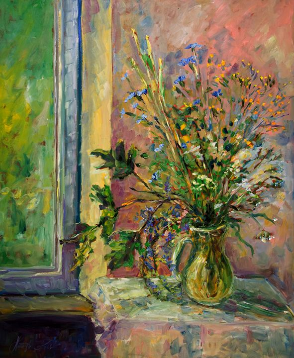 Flowers In a Vase Still Life - Margaret Raven Gallery
