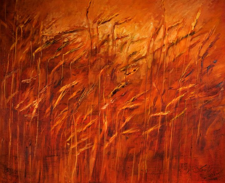Orange Grass - Margaret Raven Gallery