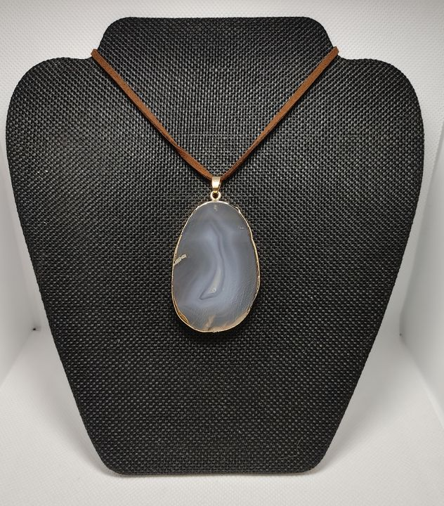 Agate necklace - Lair of the Dark Bunny