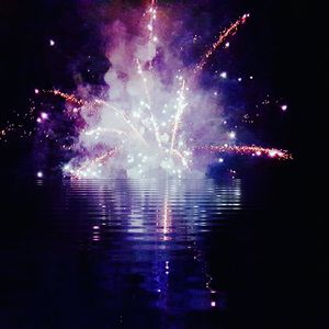 Fireworks in the water