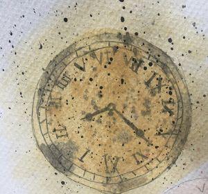 Watercolour Vintage clock